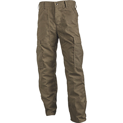 CrewBoss Classic NFPA 1977 rated wildland brush pants, khaki advance rip-stop material FRONT