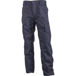 Navy blue classic brush pants for wildland firefighters.
