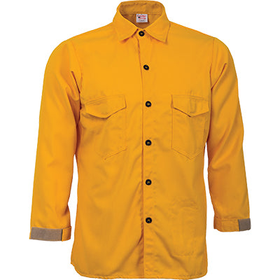 Tecasafe Plus 5.8 oz Trad. Brush Shirt (Yellow), CrewBoss