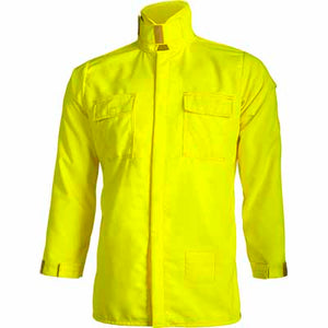 CrewBoss Tecasafe NFPA 1977 Certified Wildland Brush Shirt, High Visibility Snap Closure