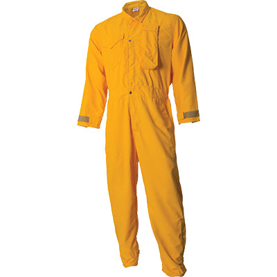 CrewBoss Tecasafe NFPA 1977 Rated Wildland Coveralls, Yellow