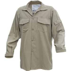 Tecasafe NFPA 1977 Rated Wildland Brush Shirt, Khaki Color