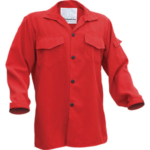 Tecasafe NFPA 1977 Rated Wildland Brush Shirt, Red Color