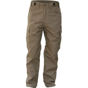 Front view of our khaki Advance 7 oz brush pants.
