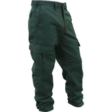 Green fire resistant brush pants.