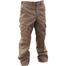 Front view of the Advance 7 oz khaki brush pants.
