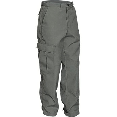 Front view of our sage Nomex brush pants.