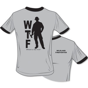 Where's The Fire WTF Wildland  T-Shirt (Grey), The Supply Cache