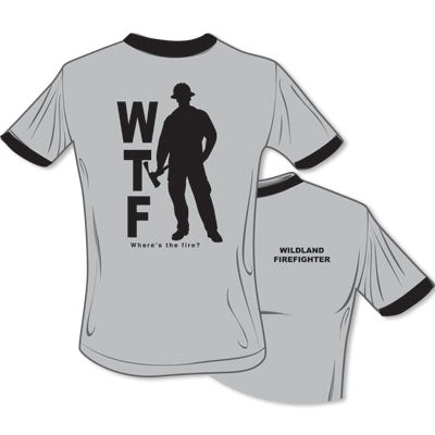 Where's The Fire WTF Wildland  T-Shirt (Gray), TSC