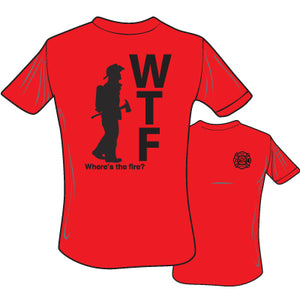 Where's The Fire WTF Structure T-Shirt (Red), TSC