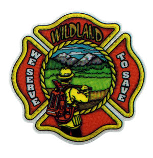 Wildland - We Serve To Save Sticker