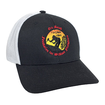 Eric Marsh Foundation Trucker Flexfit Hat, Black