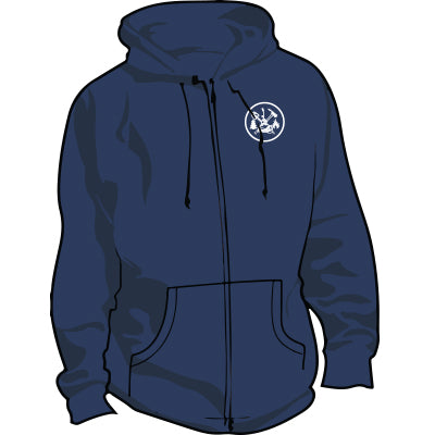 Wildland FIRE Firefighter Full Zip Hoodie (Navy), TSC