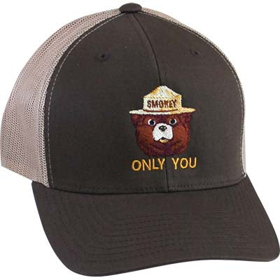 Mesh Ball Cap- Only You (Brown), Smokey Bear