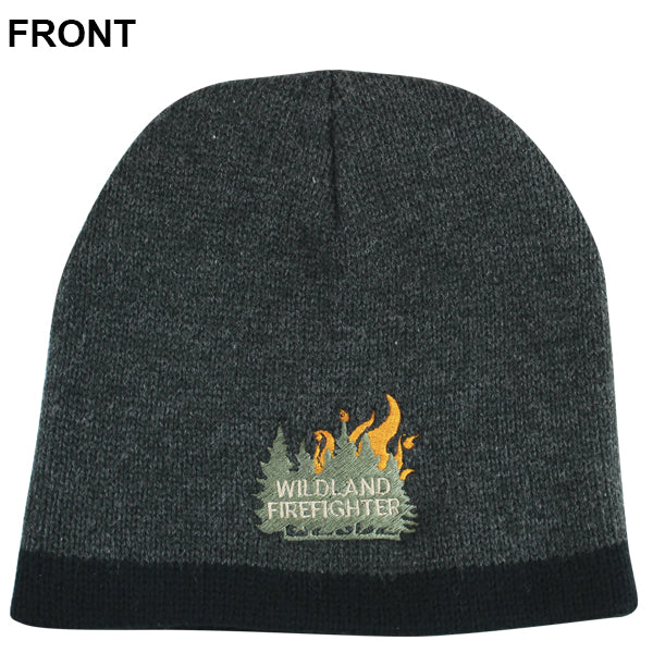 Tree & Flames Wildland Firefighter Beanie (Grey), TSC