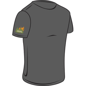 Tree & Flames Wildland Firefighter T-Shirt w/TSC Logo (Grey)