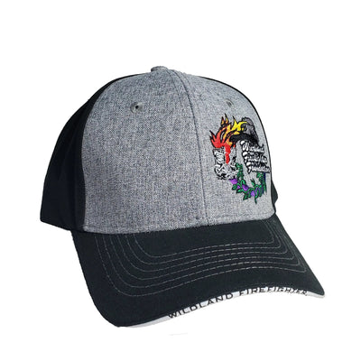 Ball Cap with Wreath (Grey/Black), Wildland Firefighter Foundation
