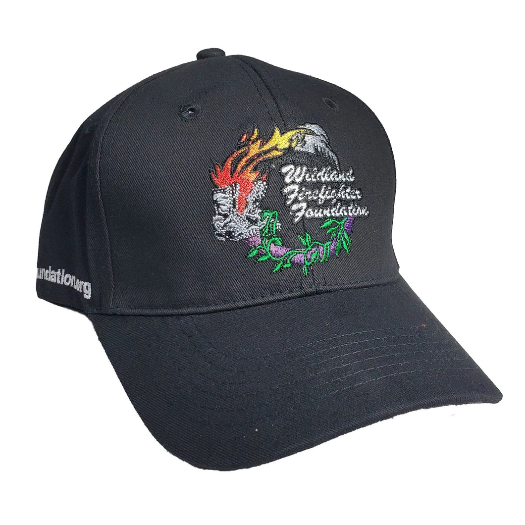 Ball Cap (Black), Wildland Firefighter Foundation