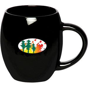 Tree and Flame Coffee Mug 19 oz (Black)