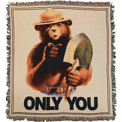 Throw Blanket (Cotton) Only You, Smokey Bear