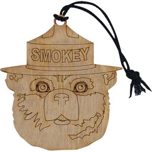 Ornament (Wooden), Smokey Bear