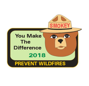 Year Pin- 2018, Smokey Bear