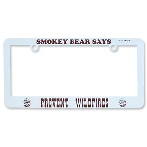 License Plate Frame- Prevent Wildfires, Smokey Bear