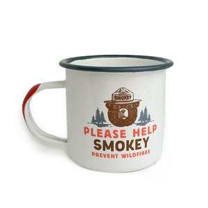 Enamelware Mug (13 OZ) - Smokey Bear, The Landmark Project