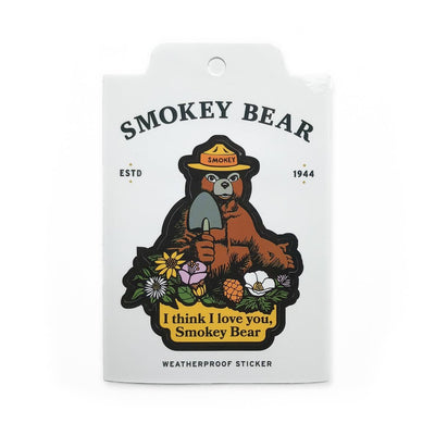 I Love You Smokey-Smokey Bear Sticker, The Landmark Project