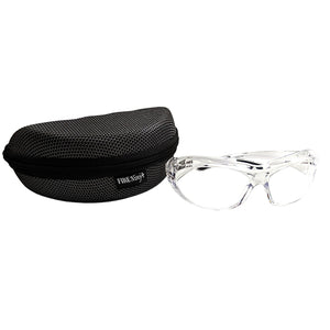Edge 360 Safety Glasses (Clear) w/Hard Case, Fire Ninja