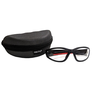 Ultraflex (Clear) Safety Glasses w/ Hard Case, Fire Ninja