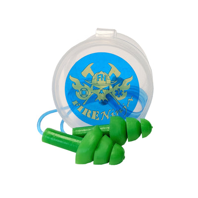 Ear Drumz Ear Plugs with Storage Container, Fire Ninja
