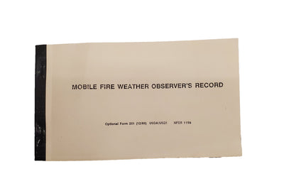 Mobile Fire Weather Observer's Record Book (NFES 001159)