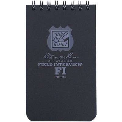 Field Interview Notebook- 3 x 5, Rite in the Rain