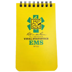EMS Vital Stats Notebook- 3 x 5, Rite in the Rain