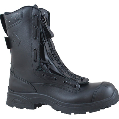 Dual Certified Wildland NFPA 1977 & Structure fire boot black with Zipper lace up