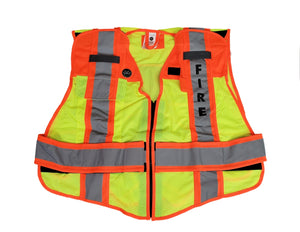 Ultrabright 6 point Breakaway Fire Safety Vest, Fire Ninja