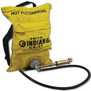 Bright yellow Indian Chief wildland firefighting backpack with Fedco pump.