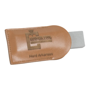 Pocket Sharpening Stone with Leather Pouch, Council Tools