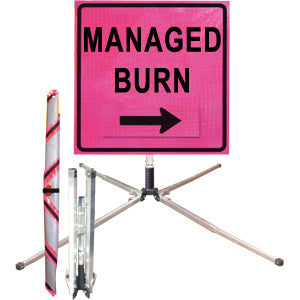 Managed Burn (36 Pink ) Standard Roll Up Sign, Dicke