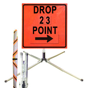 Drop Point (36 Orange) Standard Roll Up Sign, Dicke