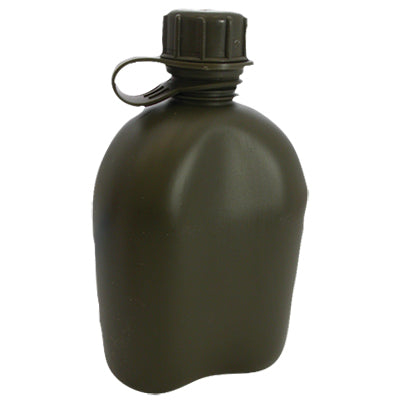 Plastic Canteen- OD Green, Military