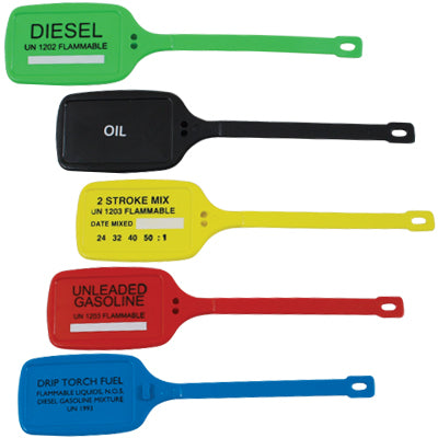 Fuel Container Tag Set of 5