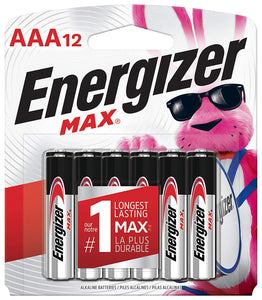 AAA Energizer Max Batteries-12 Count