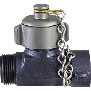"Hose Line Tee 1"" NP w/ Cap & Chain,  C & S Supply"