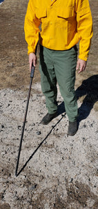Cold Trailing tool for wildland fire action image