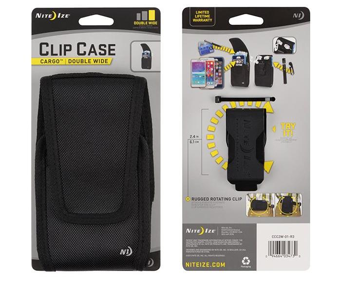 Clip Case Cargo Universal Double Wide Holster, Nite Ize