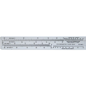 Psychrometric Slide Rule, Weksler