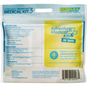 First Aid Kit- Ultralite .3, Adventure Medical