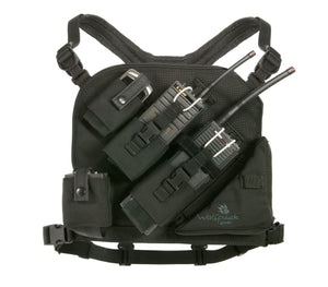 wolfpack gear's dual radio chest harness for wildland fire